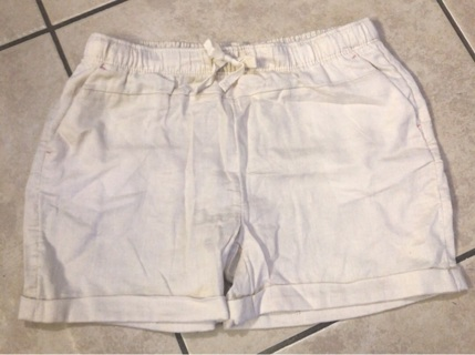 Wonder Nation - Girls - Size Large 10 12 - Beige Uniform Shorts - NWOT