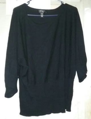 Cable & Gauge Woman Black Pull Over Sweater Size 1X