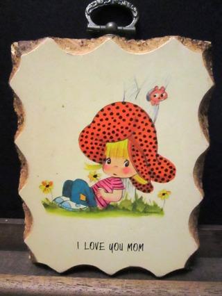 I Love You Mom Wall Plaque