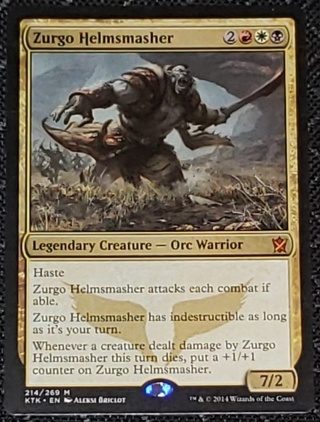 MTG Zurgo Helmsmasher Mythic Rare 214/269 Khans of Tarkir  (KTK) Magic the Gathering (2014)