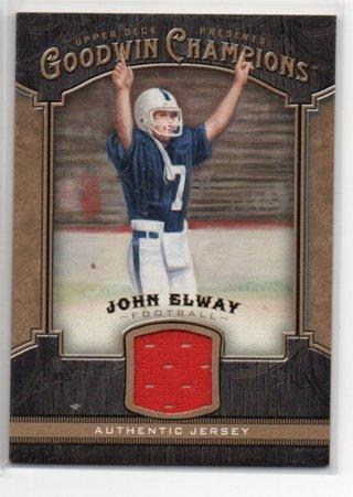 2014 UD Goodwin Champions John Elway Jersey Card