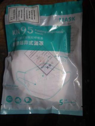 One Unopened Pack Of KN 95 Masks(5 Masks)