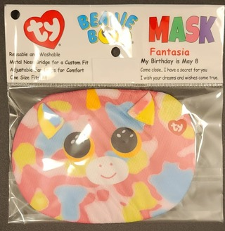 FACE MASK TY BEANIE BOO MASK  FANTASIA SIZE KIDS 3 & UP***LQQK***
