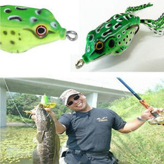 Hot Sale 1pc Frog Topwater and Fishing Lure Crankbait Hooks Bass Bait Tackle 6cm