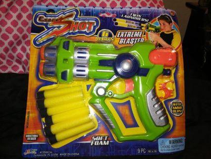 CYBER SHOT EXTREME BLASTER FOAM DART GUN=FREE SHIPPING