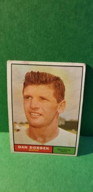 1961 - TOPPS EXMT - NRMT BASEBALL - CARD NO.  108 - DAN DOBBEK - TWINS