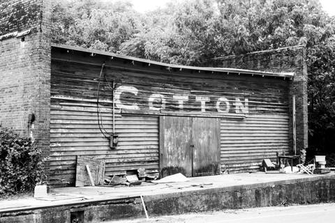 B&W Photo of An Old Cotton Mill Store 4X6