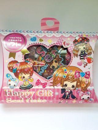"*RARE* ""Shiny Girls"" Happy Gift Seal Flake Box *Very Hard To Find!!* Only One!!☆Kawaii Bonus☆"