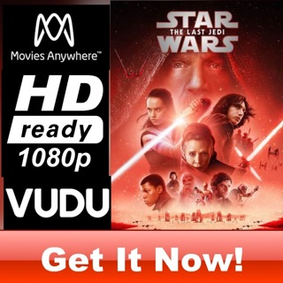 STAR WARS: THE LAST JEDI HD MOVIES ANYWHERE OR VUDU CODE ONLY