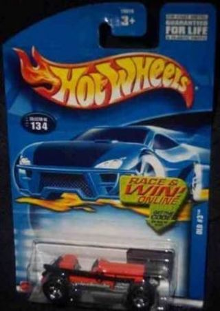 #2002-134 Old #3 Painted Base Collectible Collector Car Mattel Hot Wheels