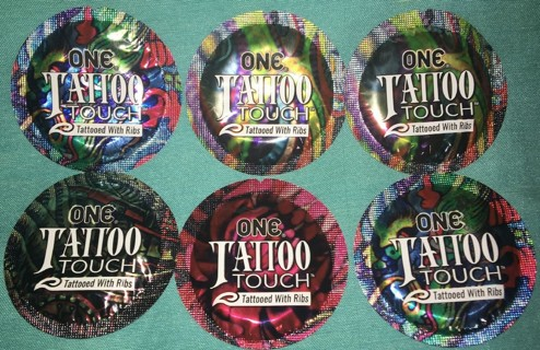 6 ONE tattoo touch condoms