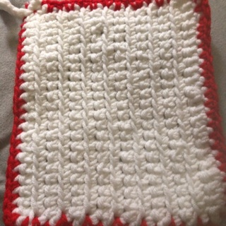 Crochet pot holder.