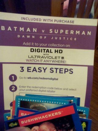 Batman vs Superman digital HD code