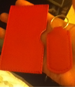 Key chain and card case