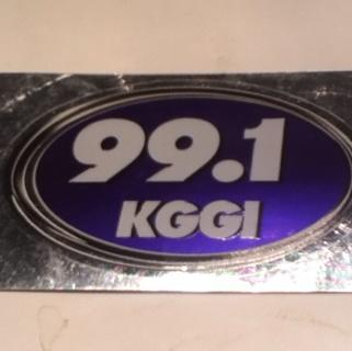 991 KGGI Radio Sticker