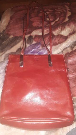 Maledetti Toscani Red Italian Leather Messenger Style Purse Handbag