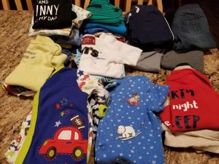 Huge lot of baby boy 3-6 mo clothes 51 pieces,free shipping gin.