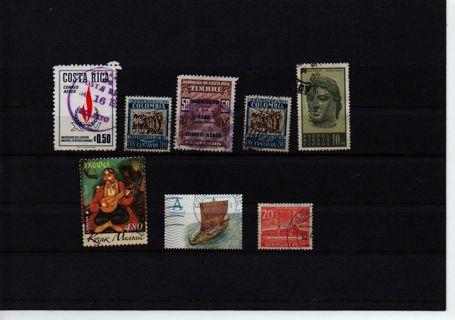 >> FREE shipping <<  world mix Columbia * Costa Rica * Cypris * Berlin * Norway * Ukraina #12