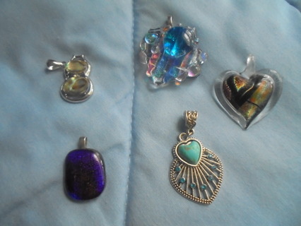 5 PENDANTS AND 7 NECKLACES  REAL STONES