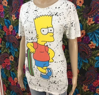 MEN'S Bart Simpson Shirt The Simpsons SIZE MEDIUM