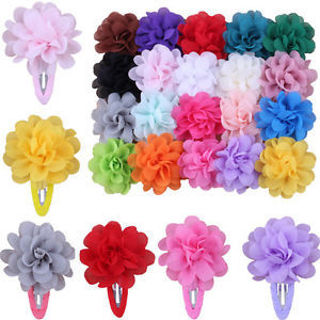 Hot 2 Pcs Baby Girls Kids Flower Pumpkin Hair Clip Hairpins Hair Accessories