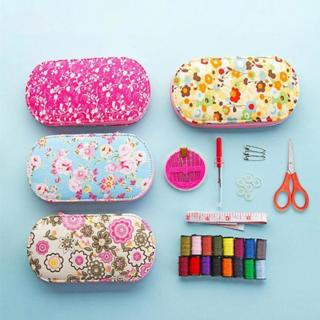 [GIN FOR FREE SHIPPING] Portable Mini Sewing Kit Box with Needle Threads Pin Scissor