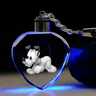 Cute Heart Paw Print Keyring Keychain Cat Dog Puppy Footprint Pendant Jewelry