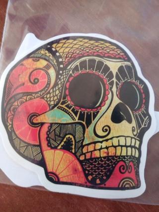 2 Skull stickers