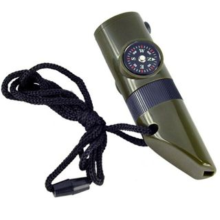 7 in 1 Military Style Emergency Whistle Survival Kit Compass Thermometer