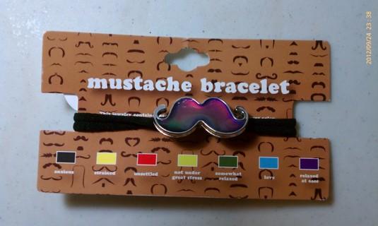 Mustache Mood Bracelet