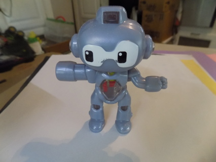 McDonalds toy Twirlbot robot rotating arms & see through body 4  inch