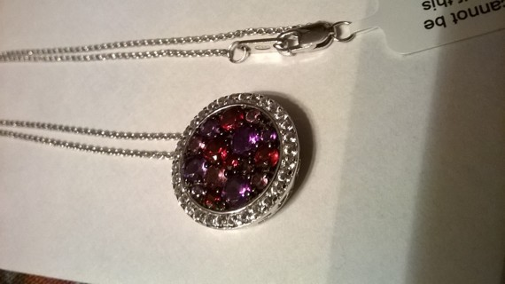 Sterling Silver Pendant Chain Necklace NEW