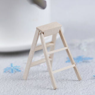 1:12 Dollhouse Miniature Furniture Wooden Ladder