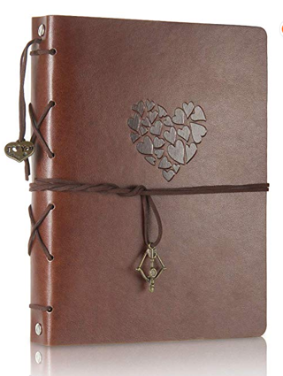 THXMADAM Scrapbook Leather Photo Album Wedding Guest Book DIY Memories Book with 60 Black Pages