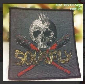 Soulfly Band SEW ON Patch Nu-Metal Music Clothing Embroidery Applique Badge FREE SHIPPING