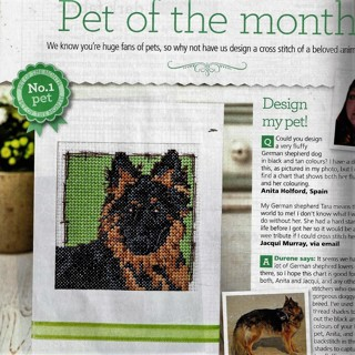 "NEW MONTH-GERMAN SHEPHERD""  COUNTED CROSS STITCH PATTERN~FREE SHIP"