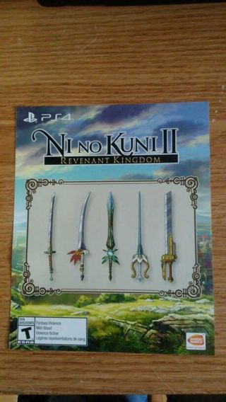 Nino Kuni 2 (DLC code) Ps4 Sword Pack Playstation 4
