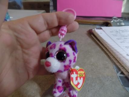 TY Teenie beanie boos Glamour Cheetah keychain