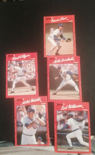5 1990 donruss Chicago Cubs Cards