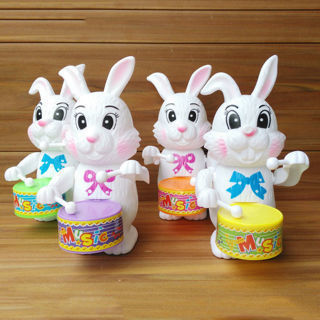 Random Color New Kid Rabbit Drumming Clockwork Developmental Funny Toy