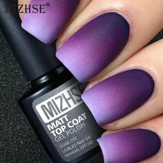 MIZHSE Matte Top Coat Gel Polish Nail Art Tips Dull Finish Long Lasting Lucky Top Coat Gel By Easy