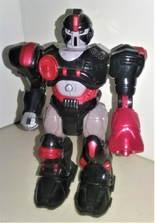 """HAP-P-KID MARS Cybotronic Attack Squad walking Robot - 7"""" tall - plastic - batteries included"""