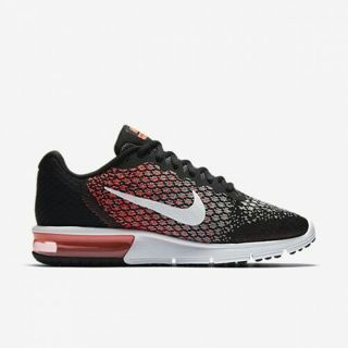 Nike Air Max Sequent 2 Nikes Women's Running Shoe Black/Racer Pink/Wolf Grey/White NWOT