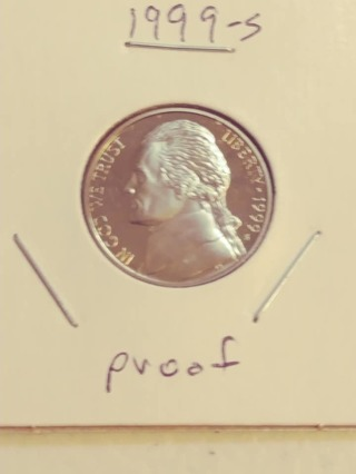 1999-S Proof Cameo Jefferson Nickel! 82