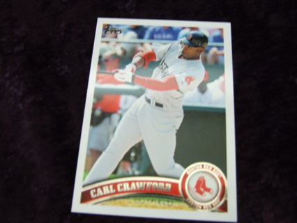 2011 Carl Crawford Boston Red Sox Topps Card #US300