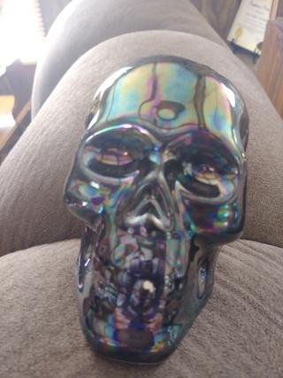 Black Opal glazed Skull