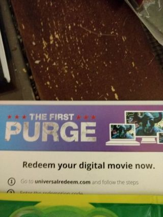 The First Purge- digital movie code
