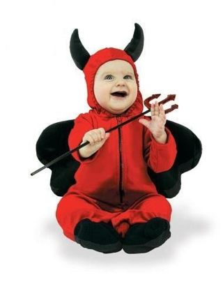 SPIRIT SHOP LIL' DEVIL one piece RED HALLOWEEN COSTUME 6-12 MO FREE SHIPPING