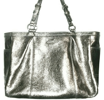 COACH #17721 - Metallic Bronze East/West Gallery Carryall!