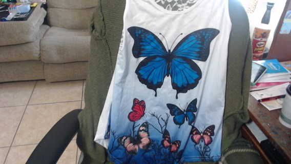 Butterfly Long Shirt Size L
